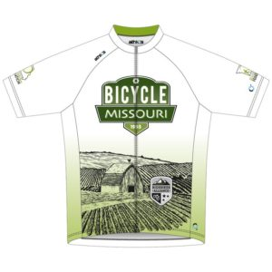 Celebrate the Missouri Bicycle & Pedestrian Federation's 25th Anniversary with this Bicycle Missouri jersey from the RideBiker Alliance